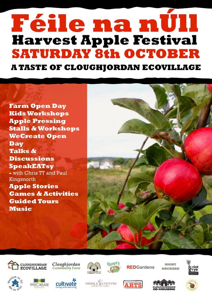 Féile na nÚll – Harvest Apple Festival, Saturday 8th October, aday filled with apple fest fun! Starts @ 11.00am